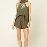Reverse High Neck Romper