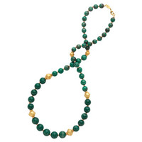 North African Bead Necklace, Green