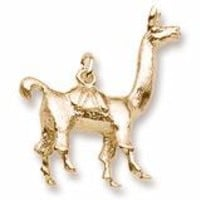 Llama Charm In Yellow Gold
