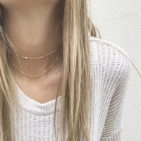 Double Chain Holly Choker