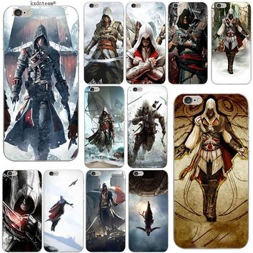 Skull Assassins Creed Soft TPU Silicon Phone Cases Slim Transparent Cover for iPhone 8 7 6 6S Plus X 5 5S SE 5C 4 Shell Fundas