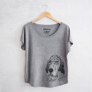 Aviator Hutch the English Setter - Women's Dolman Shirt