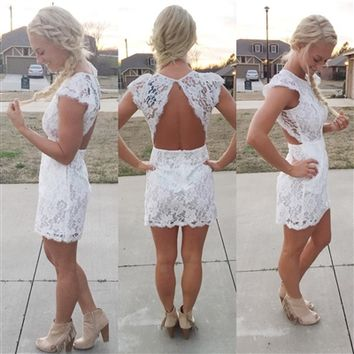 Cambridge Lace Dress - White