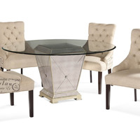Script and Mirrors Dining Set