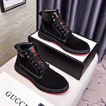 DCCK Gucci  Men Casual Shoes Boots  fashionable casual leather