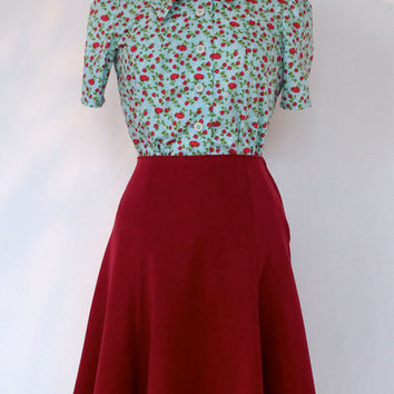 1940's skirt Bugle Boy, retro Lindyhop A-line skirt, made to measure vintage style swing skirt, made to order