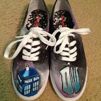 Doctor Who Shoes Galaxy by JessiKundrickShoeArt on Etsy