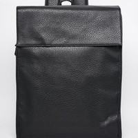 ASOS Smart Backpack In Black Faux Leather