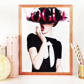 VOGUE FASHION PRINT,Vogue Scandinavian Print,Vogue Poster,More Issues Than Vogue,Vogue Fashion Cover,Vogue Illustration,Printable Wall Art