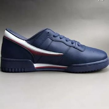 FILA Original Fitness new sneakers leather two-layer wear non-slip outsole casual sports shoes F-CSXY-1