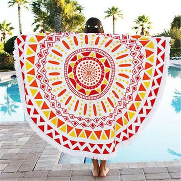 DCCKJG2 Indian Round Ombre Mandala Beach Throw Tapestry Bohemian Wall Hanging Bedspread decor