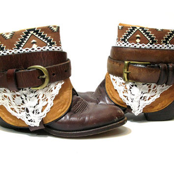Chocolate Brown TRIBAL Redesigned Ankle Boots Size 8