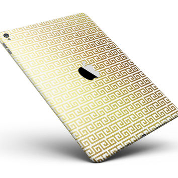 """Golden Greek Pattern Full Body Skin for the iPad Pro (12.9"""" or 9.7"""" available)"""