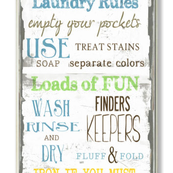 Stupell Industries Home Décor Laundry Room Typography Rectangle Textual Art Plaque