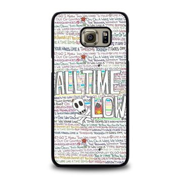 all time low writting samsung galaxy s6 edge plus case cover  number 1