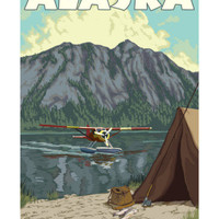 Bush Plane and Fishing, Alaska Posters at AllPosters.com