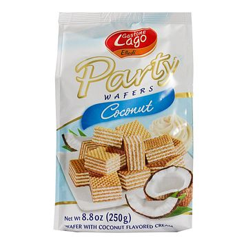 Lago Coconut Party Wafers 8.8 oz. (250g)