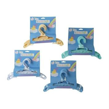 BABY CLOTHES HANGER- 4 ASSORTED COLORS