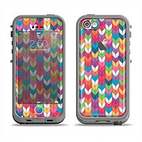 The Color Knitted Apple iPhone 5c LifeProof Fre Case Skin Set