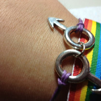 Gay pride ribbon Bracelet