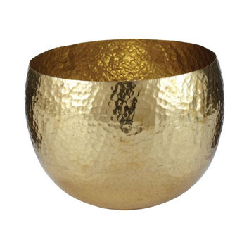 Gold Hammered Brass Bowl