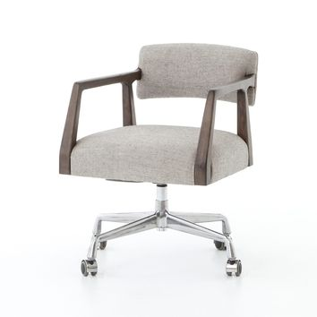 JORDON DESK CHAIR IVES WHITE GREY
