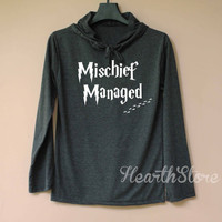 Mischief Managed Shirt Harry Potter Shirt Long Sleeve Hoodie TShirt T Shirt Unisex - size S M L