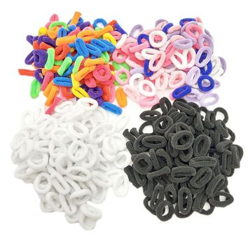 Lot 400 Pcs Colorful Child Kids Hair Holders Cute Rubber Hair Band Elastics Accessories Girl Charms Tie Gum