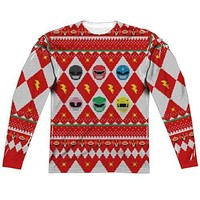 Ho Ho Ho Power Rangers Long Sleeve Sublimation Shirt