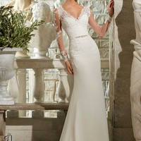 Blu by Mori Lee 5306 Long Sleeve Wedding Dress