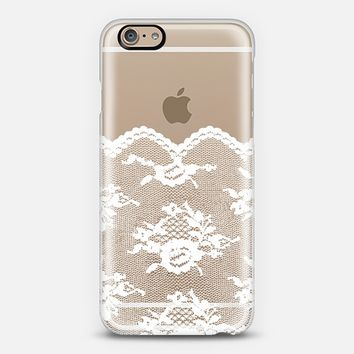 White Romantic Lace Transparent iPhone 6 case by Organic Saturation | Casetify