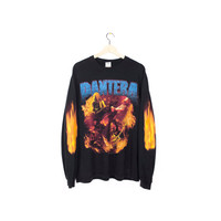 PANTERA flames shirt - vintage - long sleeves - metal