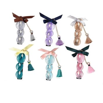 M MISM Chinese Style Hair Accessories Women Opal Stone Hairpins Pearl Bowknot Hair Clips Tassels Pendant Barrettes Girl Headwear