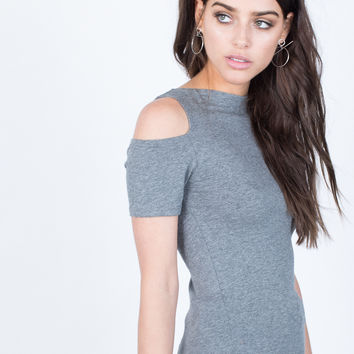Split Shoulder Top