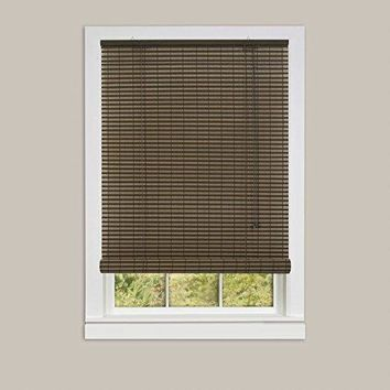 Ben&Jonah Collection Ashland Vinyl Roll-Up Blind 60x72 - Cocoa/Almond
