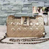 Perfect DIOR Women Fashion Shopping Leather Shoulder Bag Satchel Crossbody