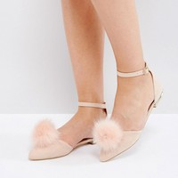 Miss KG Pom Pom Flat Shoes at asos.com