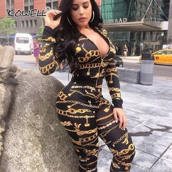 Hot Sale Print Tracksuit 2019 Spring Women Long Sleeve Top Jacket and Pants 2 Piece Set Outdoor Outfits Workout Sport Suit