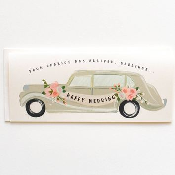 THE FIRST SNOW HAPPY WEDDING CHARIOT CARD