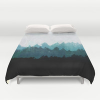 Woods Abstract  Duvet Cover by Mareike Böhmer Graphics