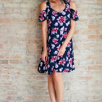 Esperenza Floral Cold Shoulder Dress