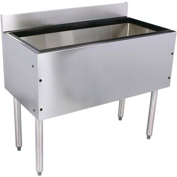 "Glastender Choice Stainless Steel Extra Deep Commercial Ice Bin 30"" with 10 Circuit Cold Plate"