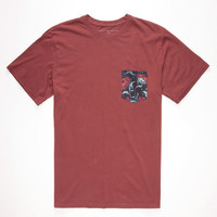 Rip Curl Pinto Custom Mens Pocket Tee Burgundy  In Sizes