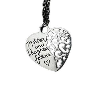 Hollow Out Heart With Letters Pendant Necklace