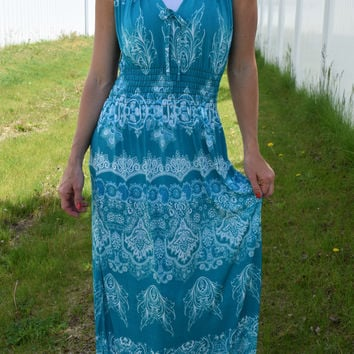 Milani Halter Maxi Dress - Teal