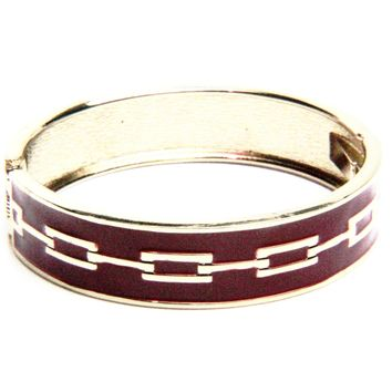 Link Enamel Bangle Bracelet