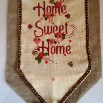 Home Sweet Home Cross stitch finished DMC Free Shipping Worldwide