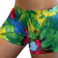 Funky Tie Dye Printed Volleyball Spandex Compression Short