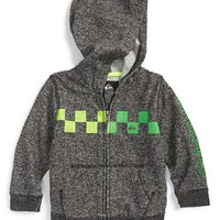 Boy's Quiksilver 'Checked Out' Fleece Hoodie,