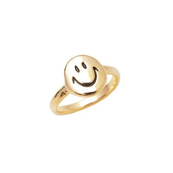 Happy Smiley Face Midi Fashion Ring
